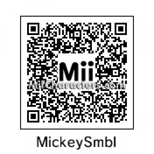 Miicharacters Miicharacters Mii Details For Mickey Mouse
