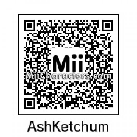 Pokemon ash mii qr codes images pokemon images