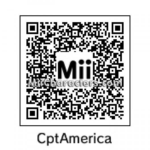 Captain America Mii Qr Code Wwwhealthgainstore