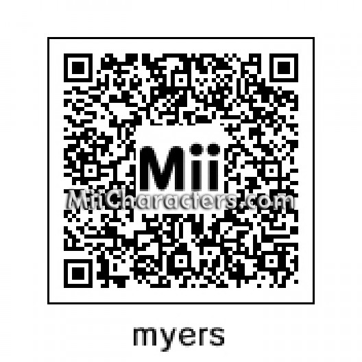 QR Code for Michael Myers by Mr Tip Mii Plaza Name myers