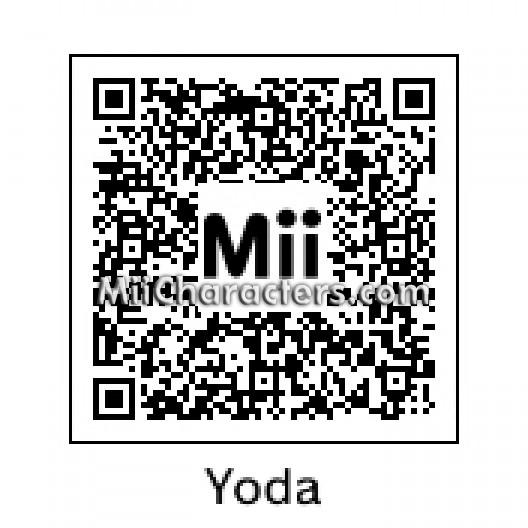Special mii qr codes qr code for yoda by sic