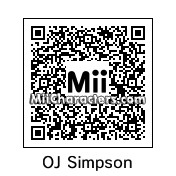 QR Code for O.J. Simpson by Zack