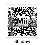 QR Code for Shadow the Hedgehog by Zego