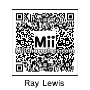 QR Code for Ray Lewis by Mii Maker JL