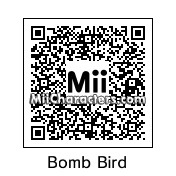 QR Code for Black Angry Bird by Mii lover