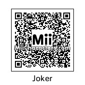 QR Code for The Joker by MiiBrowser