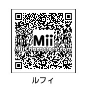 QR Code for Monkey D. Luffy by Mii Maker JL