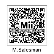 QR Code for Happy Mask Salesman by J1N2G