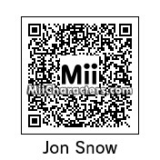 QR Code for Jon Snow by Andy Anonymous