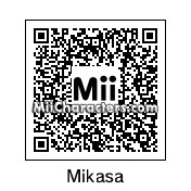 QR Code for Mikasa Ackerman by Popgous