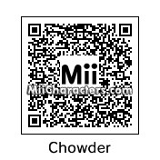 QR Code for Chowder by Toon and Anime