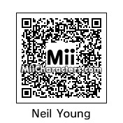QR Code for Neil Young by Ajay