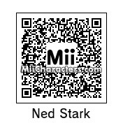 QR Code for Eddard Stark by Andy Anonymous