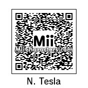 QR Code for Nikola Tesla by Ness and Sonic