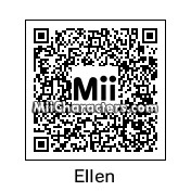 QR Code for Ellen DeGeneres by The Mii Wizard