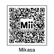 QR Code for Mikasa Ackerman by Jingi