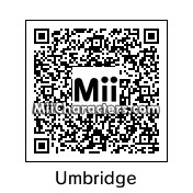 QR Code for Dolores Umbridge by Hoogomoogo