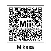 QR Code for Mikasa Ackerman by Andy Anonymous