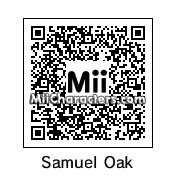 QR Code for Professor Samuel Oak by Arend
