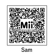 QR Code for Sam (Mii Fighter) by J1N2G
