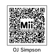 QR Code for O.J. Simpson by Cpt Kangru