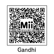 QR Code for Mahatma Gandhi by Techno Tater