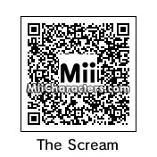 QR Code for The Scream by TeeOS