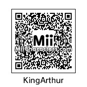 QR Code for King Arthur by KrazyKnight