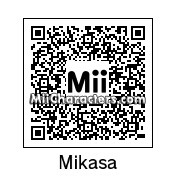 QR Code for Mikasa Ackerman by Mordecai