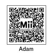 QR Code for Adam Savage by Master Mii