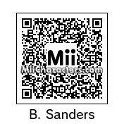 "QR Code for Bernard ""Bernie"" Sanders by Bala"