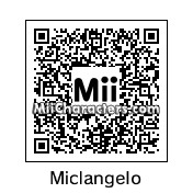 QR Code for Michelangelo by Toon and Anime