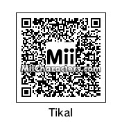 QR Code for Tikal the Echidna by ChelseaHedgeho