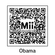 QR Code for Barack Obama by Junks