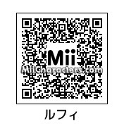 QR Code for Monkey D. Luffy by J1N2G