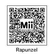 QR Code for Rapunzel by Toon and Anime