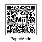 QR Code for Paper Mario by Mii Central