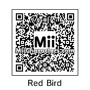 QR Code for Red Angry Bird by Geno