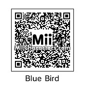 QR Code for Blue Angry Bird by Geno