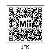 QR Code for John F. Kennedy by St. Patty