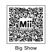 "QR Code for ""The Big Show"" Paul White by Tocci"