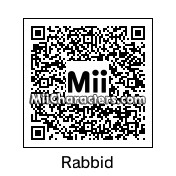 QR Code for Rayman's Raving Rabbid by Toon and Anime