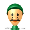 Paper Luigi Mii Image by Mii Central