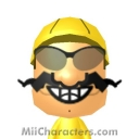 Wario Mii Image by GhostZelda