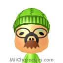 Moustache Pig Mii Image by *AngryFan*