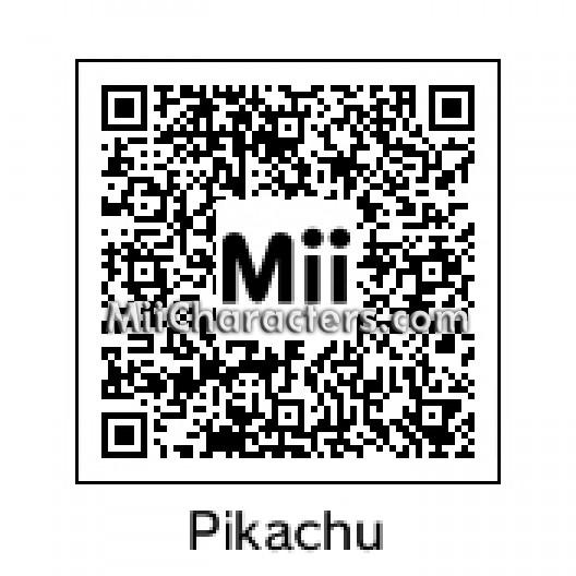 Miicharacters Com Miicharacters Com Miis Tagged With Pikachu