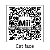 QR Code for Texting Cat Face by bulldog