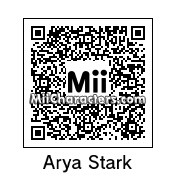 QR Code for Arya Stark by Andy Anonymous