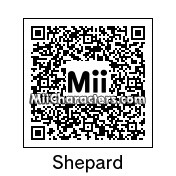 QR Code for Commander Shepard (Male) by Brunosky Inc