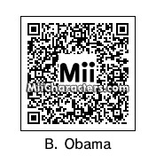 QR Code for Barack Obama by Tito